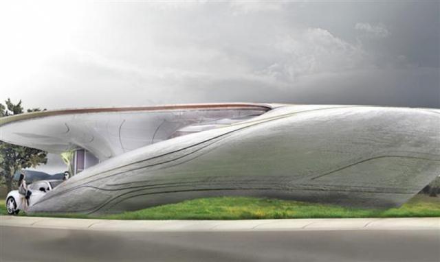 Архитекторы представили концепт 3D-печатного дома в виде пещеры