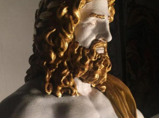 Благодаря 3D-печати культовая статуя Зевса Олимпийского «восстала из пепла»