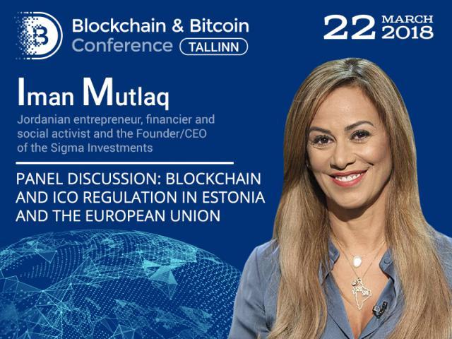 Blockchain regulation in Estonia and worldwide: panel discussion participant – Jordanian entrepreneur Iman Mutlaq