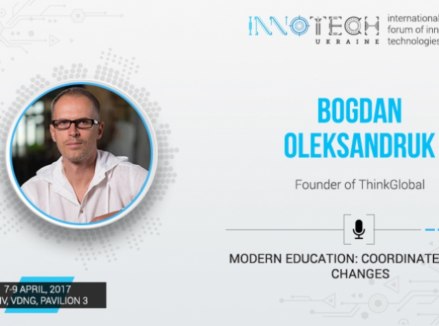 Bogdan Oleksandruk, founder of ThinkGlobal, to speak at InnoTech 2017