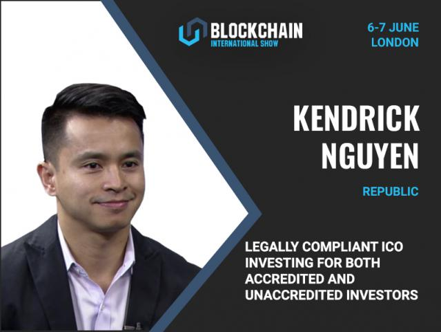 CEO of Republic Kendrick Nguyen to discuss legally compliant ICO investing