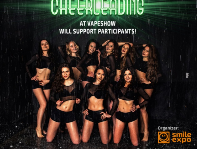 Cheerleader team to perform at VAPESHOW Moscow 2017 for the first time!