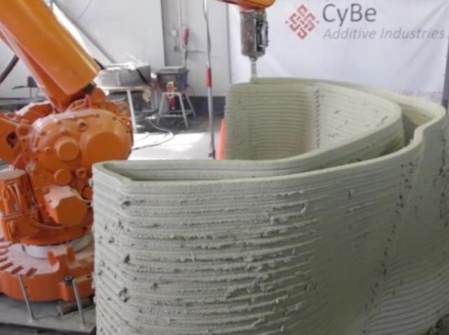 CyBe создала 3D-печатающий строительный «танк»