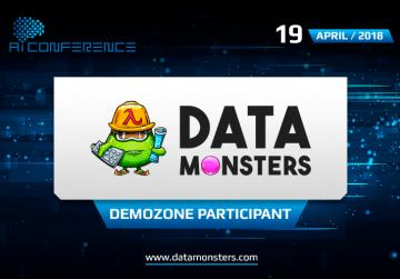 Data Monsters, a project to collect and analyze data, will present its booth in the AI Conference exhibition area
