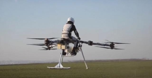 Действующую модель воздушного байка впервые показали широкой публике