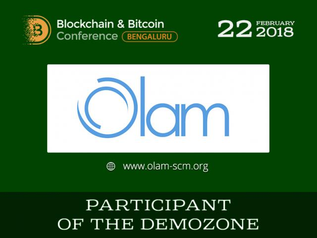Digital logistics: Olam – Blockchain & Bitcoin Conference Bengaluru exhibition area participant