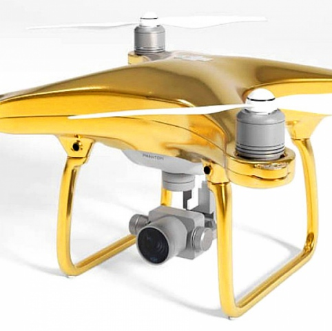 DJI presented a gold quadcopter worth RUB 1.5 million