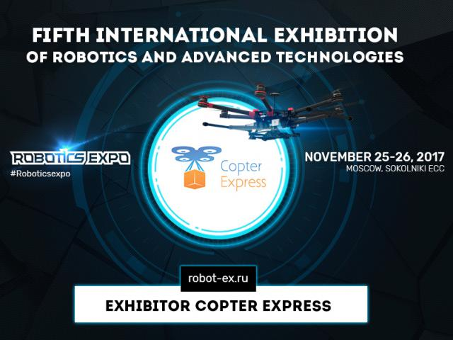 Drones Clever and Copter Express will be presented at Robotics Expo