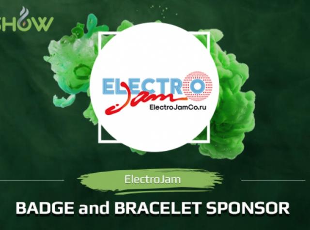 E-liquids, badges, bracelets. ElectroJam Co – sponsor of VAPESHOW Moscow