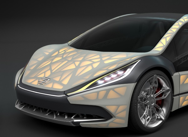 EDAG Light Cocoon- 3D-печатный концептуальный автомобиль
