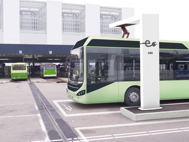 Електробуси в Женеві заряджаються за ¼ хвилини