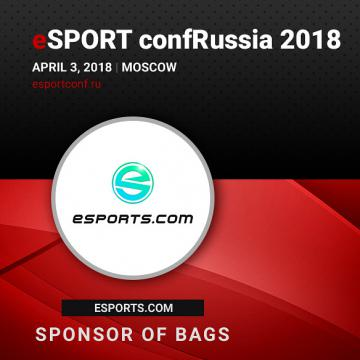ESports.com European project to be Bag Sponsor of eSPORTconf Russia