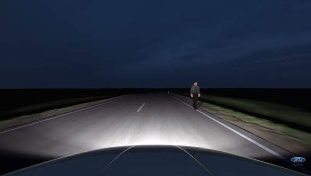 "Ford разработал ""умные"" фары с GPS навигацией"