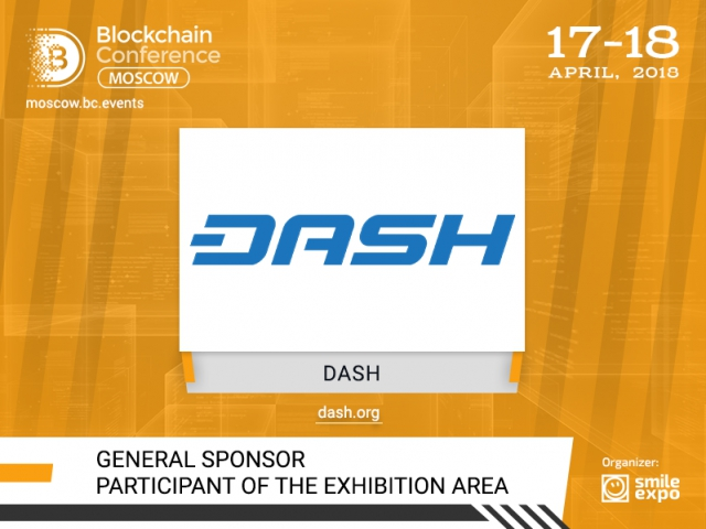 General Sponsor and exhibitor of Blockchain Conference Moscow – crypto platform Dash