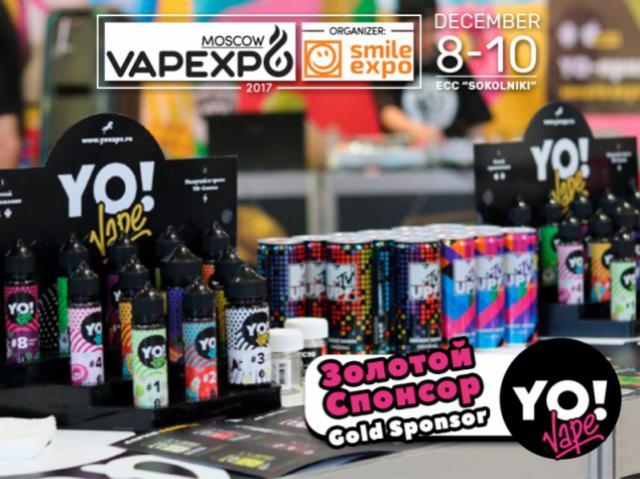 Gold Sponsor of VAPEXPO Moscow: YoVape!