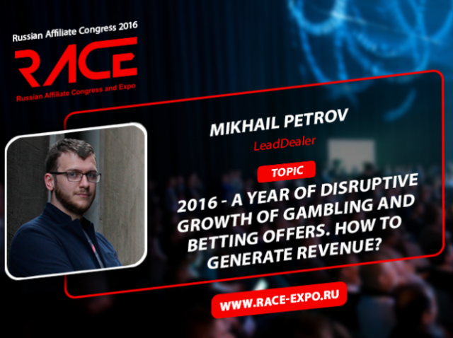 How to earn on the explosive growth of gambling and betting offers? Find out at RACE!