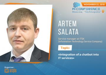 Implementing a chatbot in IT services. Presentation of Artem Salata, ITSK