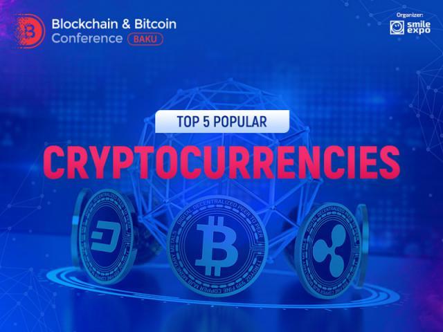 Infographics: top 5 popular cryptocurrencies