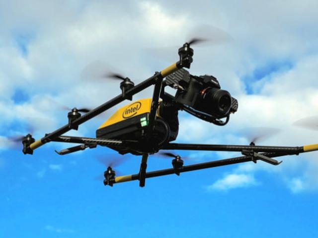Intel has designed an UAV named Falcon 8 Plus