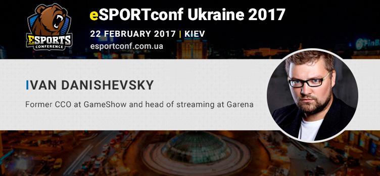Ivan Dashevsky, speaker of eSPORTconf Ukraine, will tell about eSports tournaments and startups