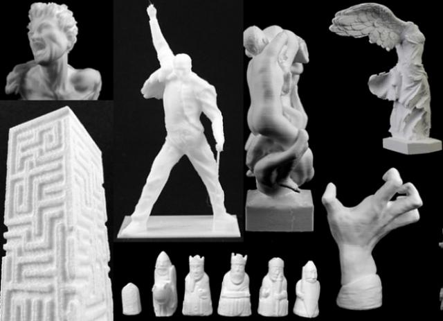 Известные скульптуры воссоздали с помощью 3D-принтера
