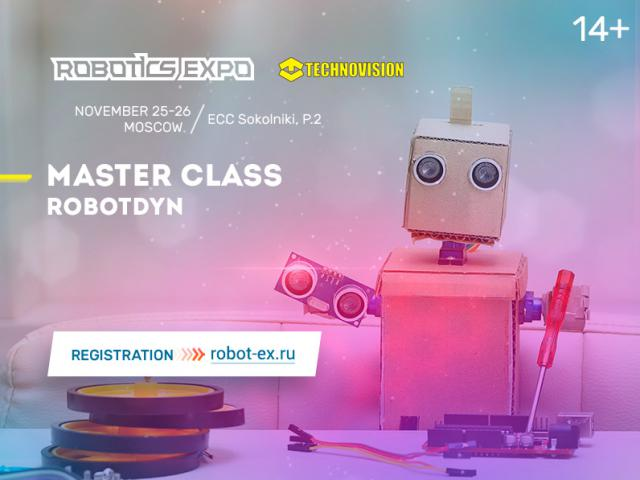Join the masterclass with a construction kit RobotDyn by Technovision!