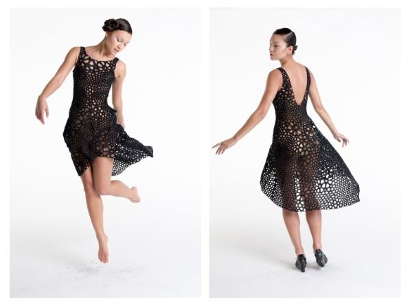 Kinematics creates natural flowing 3D printed dress