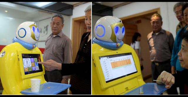 Китайский робот, созданный на 3D-принтере