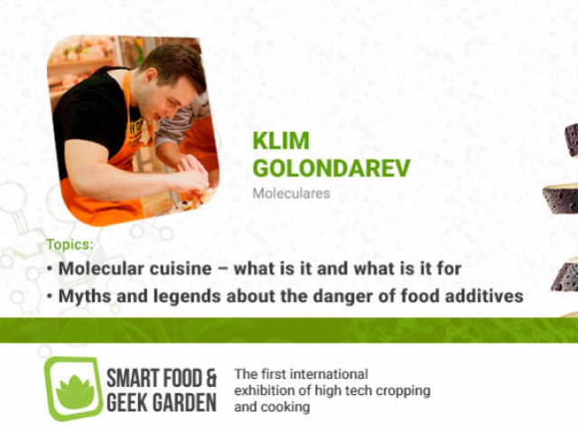 Klim Golondarev to report on molecular cuisine and food additives