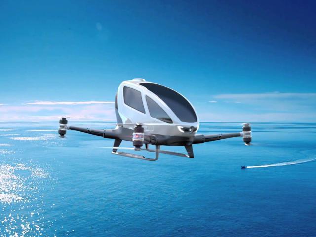 Компания Ehang провела серию тестирований дрона-такси