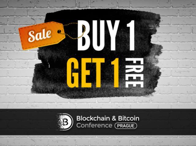 Купи один – получи два: каждый второй билет на Blockchain & Bitcoin Conference Prague – в подарок