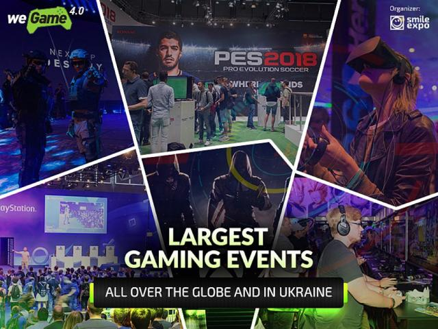 Largest gaming events all over the globe and in Ukraine