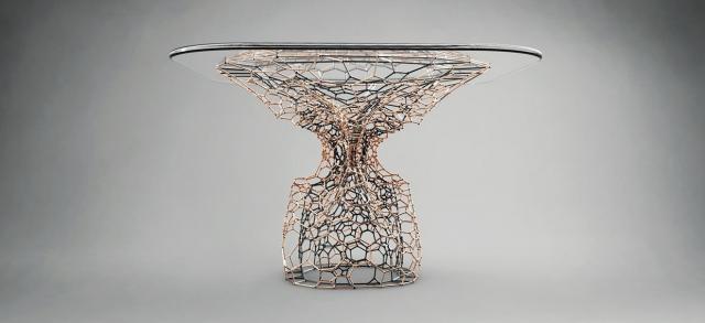 London Designer 3D Prints Intricate 'Cellular Coffee Table'
