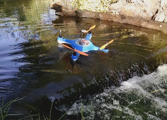 Любителям рыбалки на заметку: квадрокоптер AquaDrone с сонаром и GPS для рыбалки