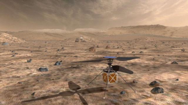 Марсоход будущего будет оснащен личным дроном