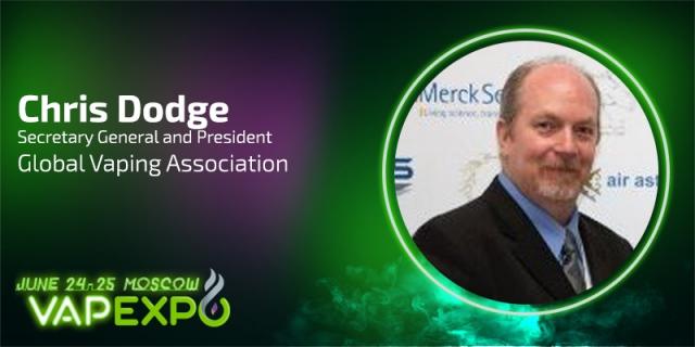 Meet Chris Dodge at VAPEXPO MOSCOW-2016