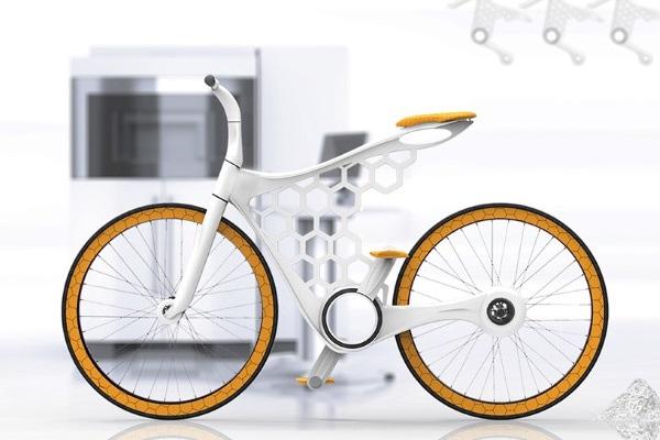 Модульный велосипед Luna 3D-печатается на заказ, исключая таким образом потребность в складах
