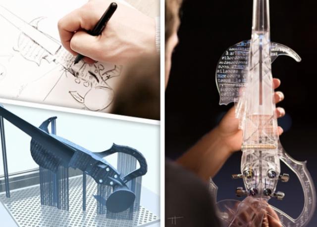 На 3D-принтере напечатали электрическую копию скрипки Страдивари
