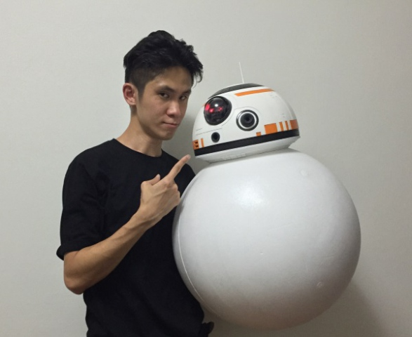 На 3D-принтере напечатали в натуральную величину дроида BB-8 из «Звездных воин»