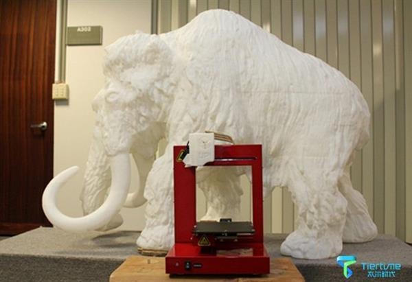 Национальный научный и технологический музей в Тайване 3D-напечатал статую мамонта из 197 частей
