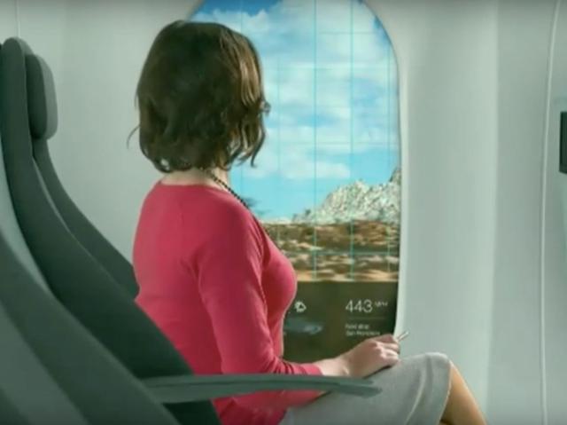 Німецька компанія запропонувала обладнати Hyperloop віртуальними вікнами