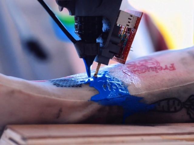 A novelty in the sphere of 3D printing – a tattooing robot