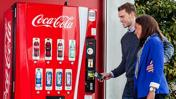 Новый вендинговый аппарат от Coca-Cola
