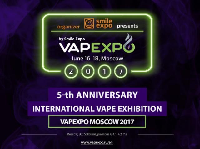 On June 16-18, ECC Sokolniki will host VAPEXPO Moscow 2017 – a legendary global vape exhibition of electronic vaping devices.