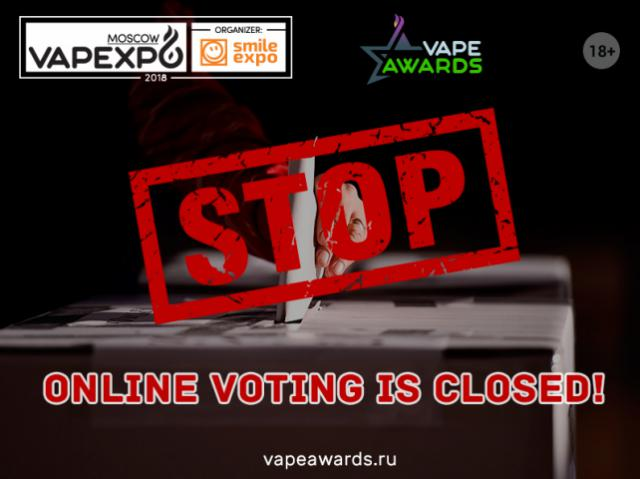 Online voting for Vape Awards candidates is closed