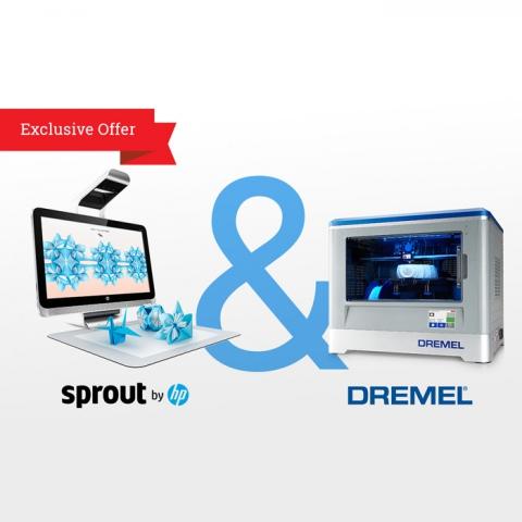 Онлайн-магазин Maker Shed начинает продажу инновационной совместной разработки HP Sprout и 3D-принтера Dremel