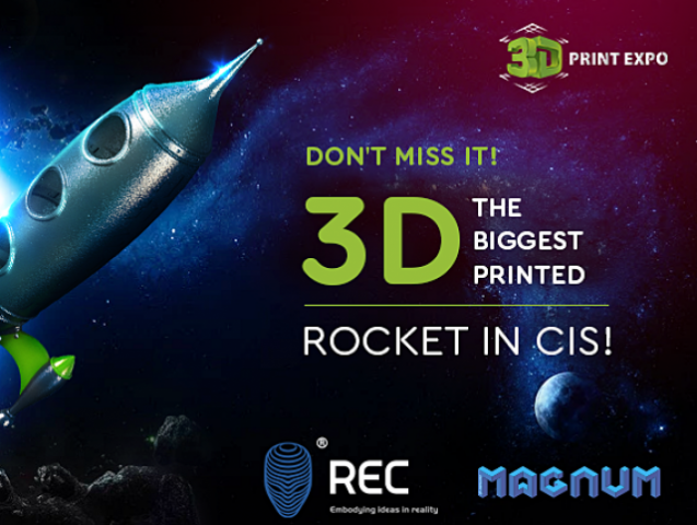 Plunge into the cosmic atmosphere with large 3D printed rocket at 3D Print Expo