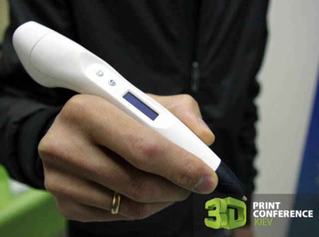 Победитель конкурса на 3D Print Conference Kiev 2016 получил 3D-ручку 3DDevice