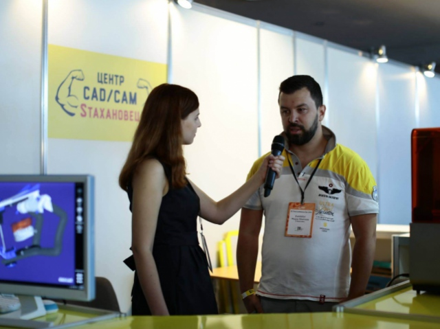 Представитель компании «Sтахановец» дал интервью пресс-службе 3D Print Conference Kiev 2016