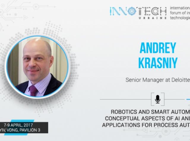 Presentation from the speaker of InnoTech 2017 Andrey Krasny